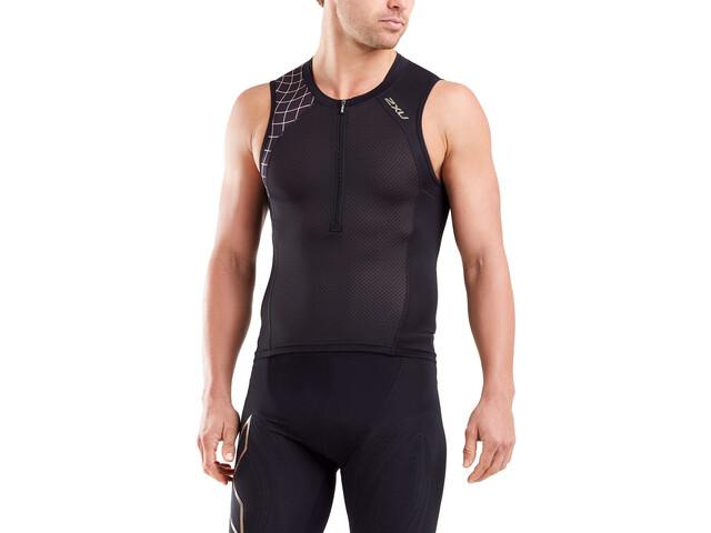 2XU Compression Koszulka triathlonowa Mężczyźni, black/gold
